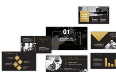 Sydney Black and Gold Free PowerPoint Template