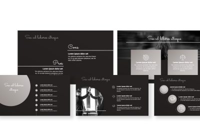 SYDNEY BLACK AND SILVER FREE POWERPOINT TEMPLATE