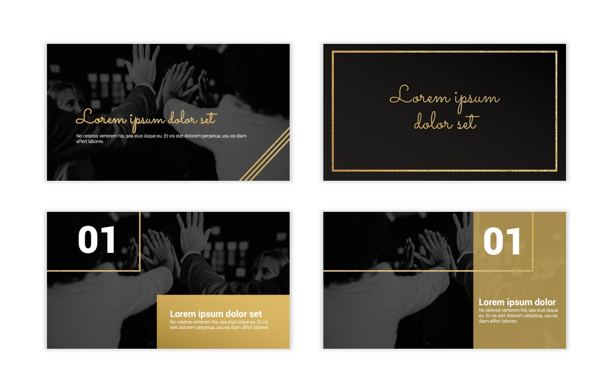Syndey Black and Gold Free PowerPoint Template