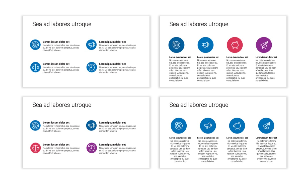 Circles PPT Template - Professional - Blue - Monochromatic - Business - Professional Slide12