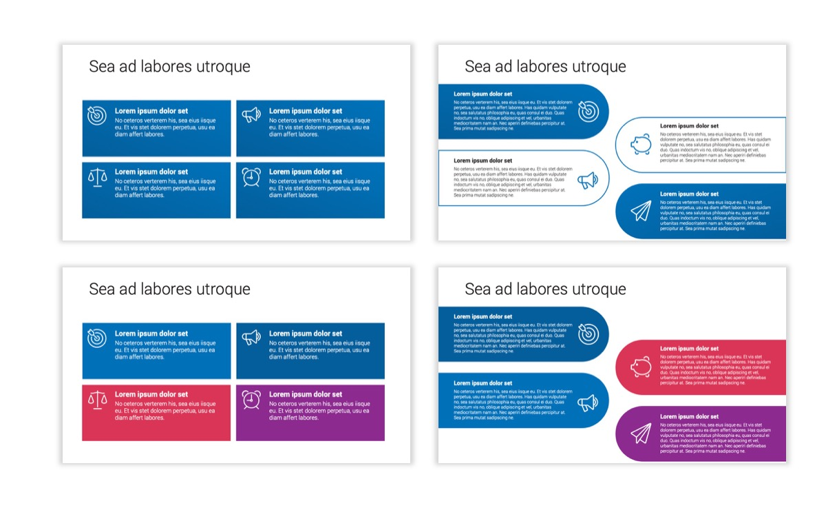 Circles PPT Template - Professional - Blue - Monochromatic - Business - Professional Slide13