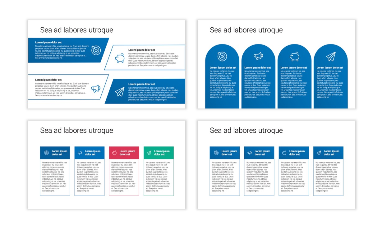 Circles PPT Template - Professional - Blue - Monochromatic - Business - Professional Slide14