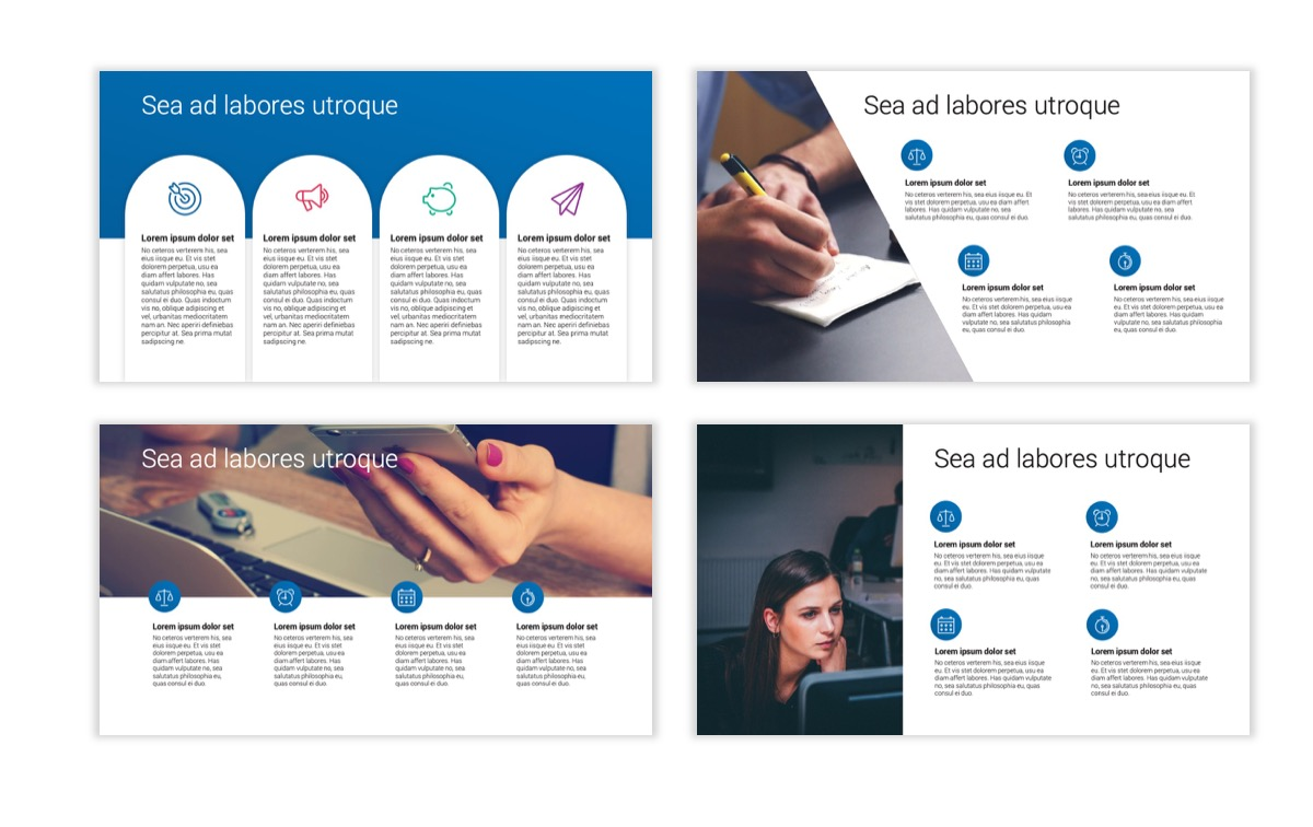 Circles PPT Template - Professional - Blue - Monochromatic - Business - Professional Slide15