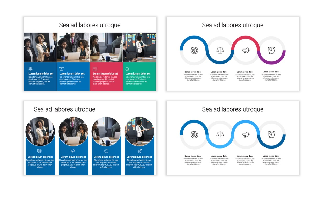Circles PPT Template - Professional - Blue - Monochromatic - Business - Professional Slide16