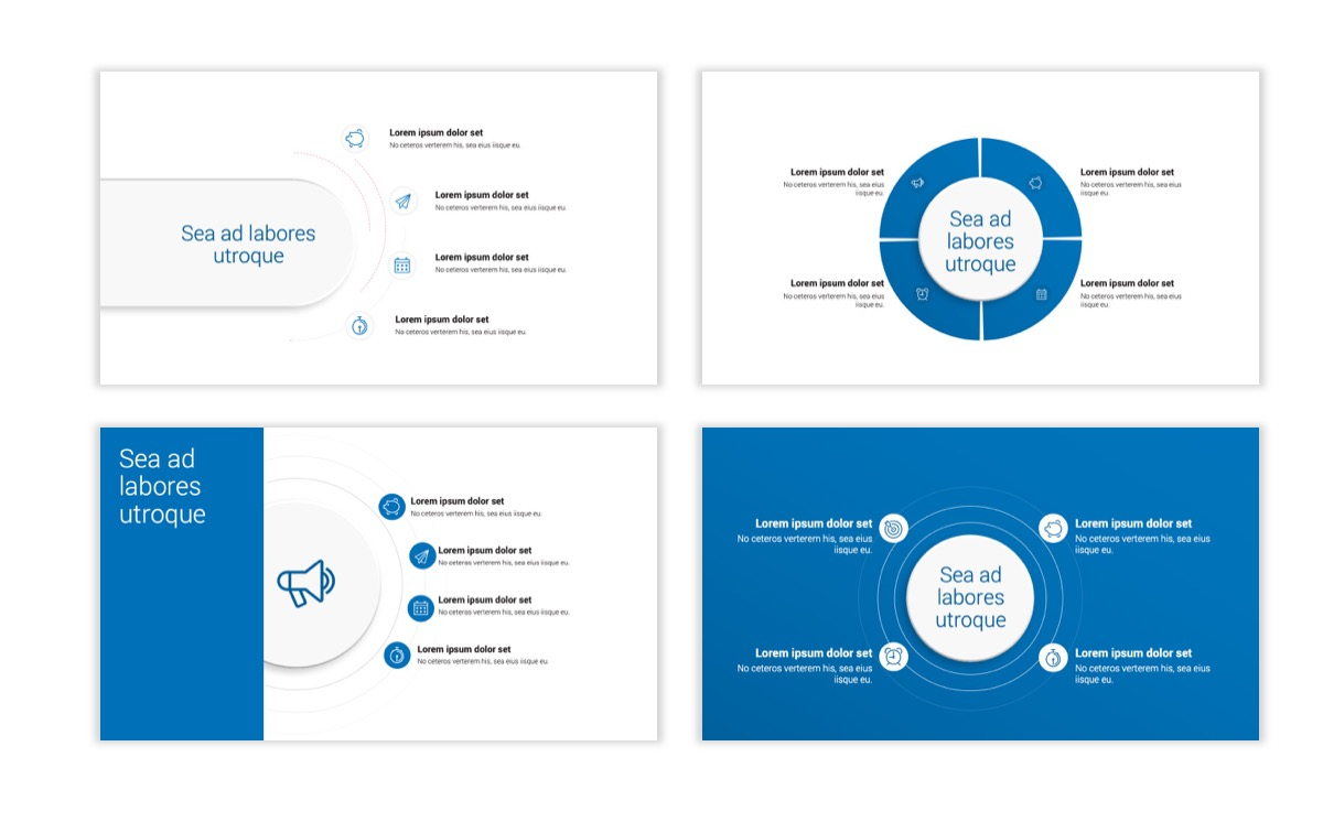 Circles PPT Template - Professional - Blue - Monochromatic - Business - Professional Slide17