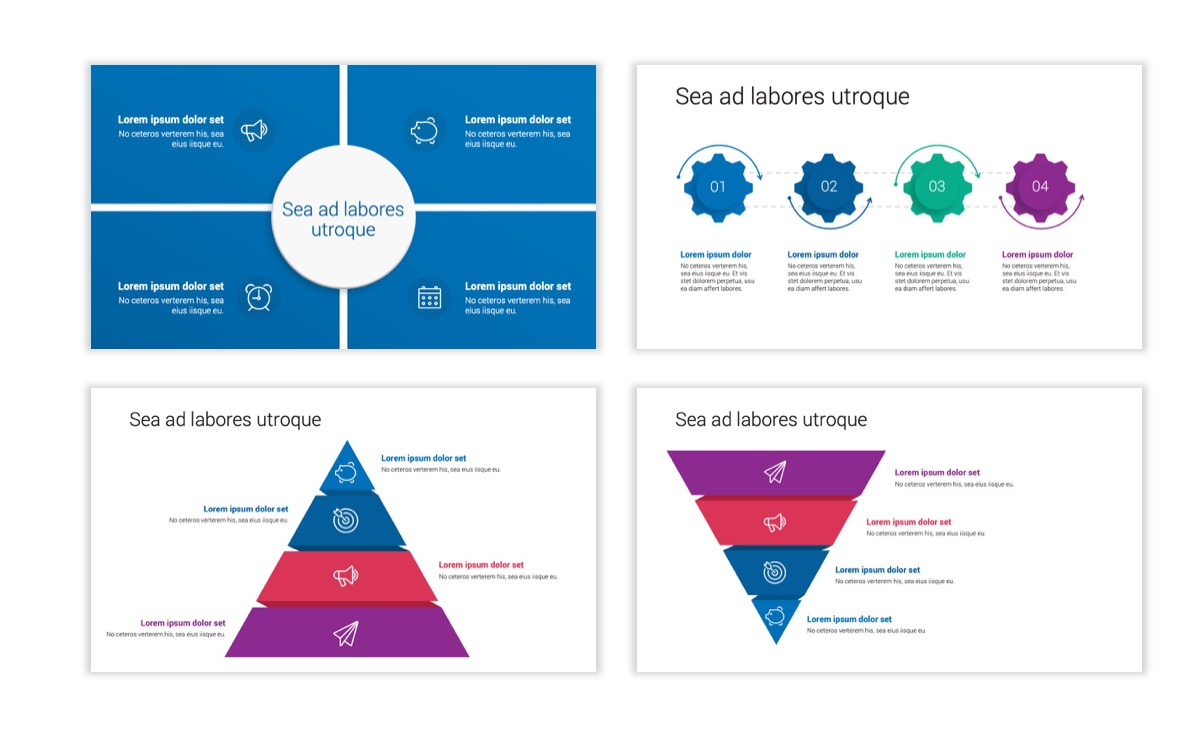 Circles PPT Template - Professional - Blue - Monochromatic - Business - Professional Slide18