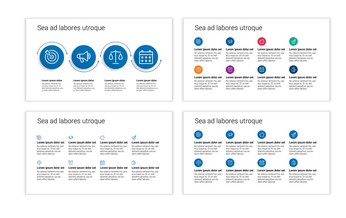 Circles PPT Template - Professional - Blue - Monochromatic - Business - Professional Slide19