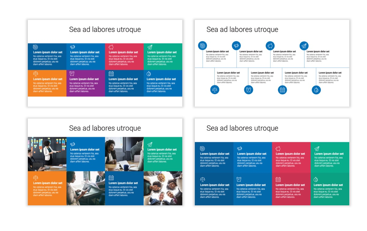 Circles PPT Template - Professional - Blue - Monochromatic - Business - Professional Slide20