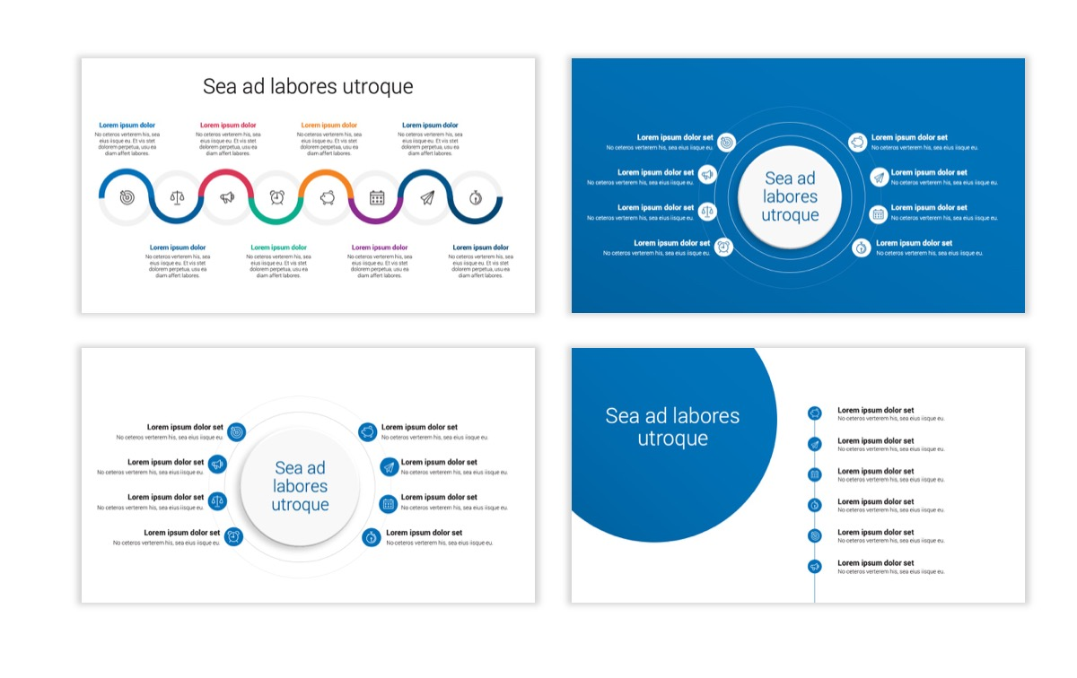 Circles PPT Template - Professional - Blue - Monochromatic - Business - Professional Slide22