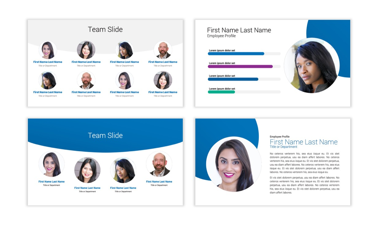 Circles PPT Template - Professional - Blue - Monochromatic - Business - Professional Slide26