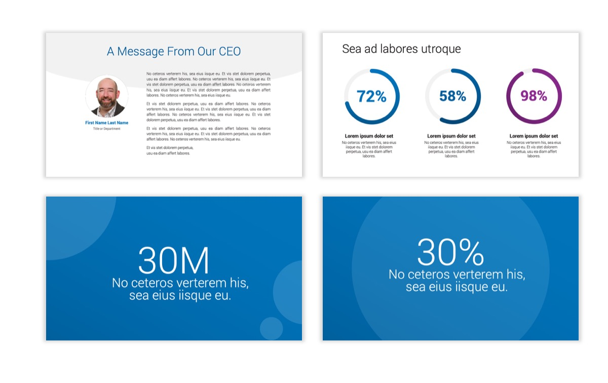 Circles PPT Template - Professional - Blue - Monochromatic - Business - Professional Slide27