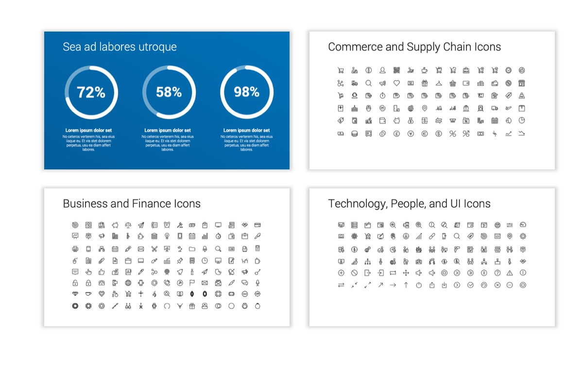 Circles PPT Template - Professional - Blue - Monochromatic - Business - Professional Slide28