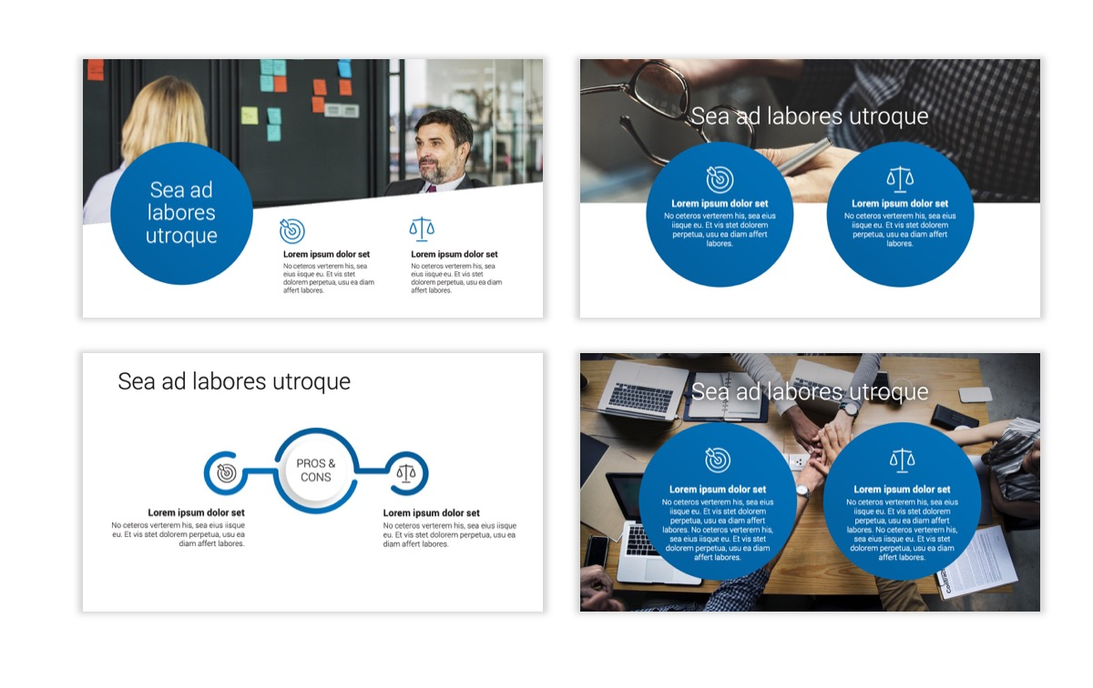 Circles PPT Template - Professional - Blue - Monochromatic - Business - Professional Slide3