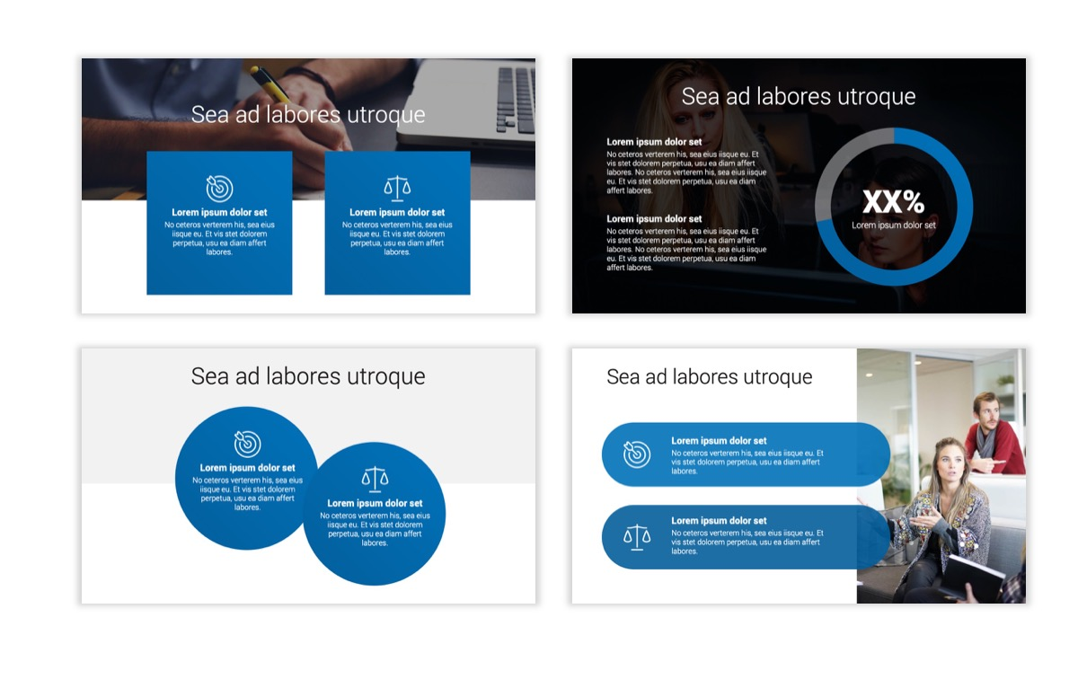Circles PPT Template - Professional - Blue - Monochromatic - Business - Professional Slide4