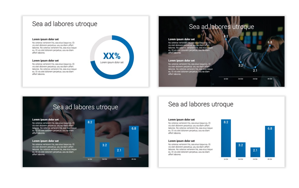 Circles PPT Template - Professional - Blue - Monochromatic - Business - Professional Slide5