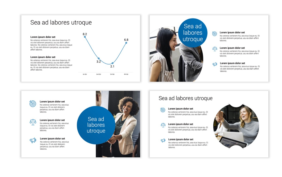 Circles PPT Template - Professional - Blue - Monochromatic - Business - Professional Slide6