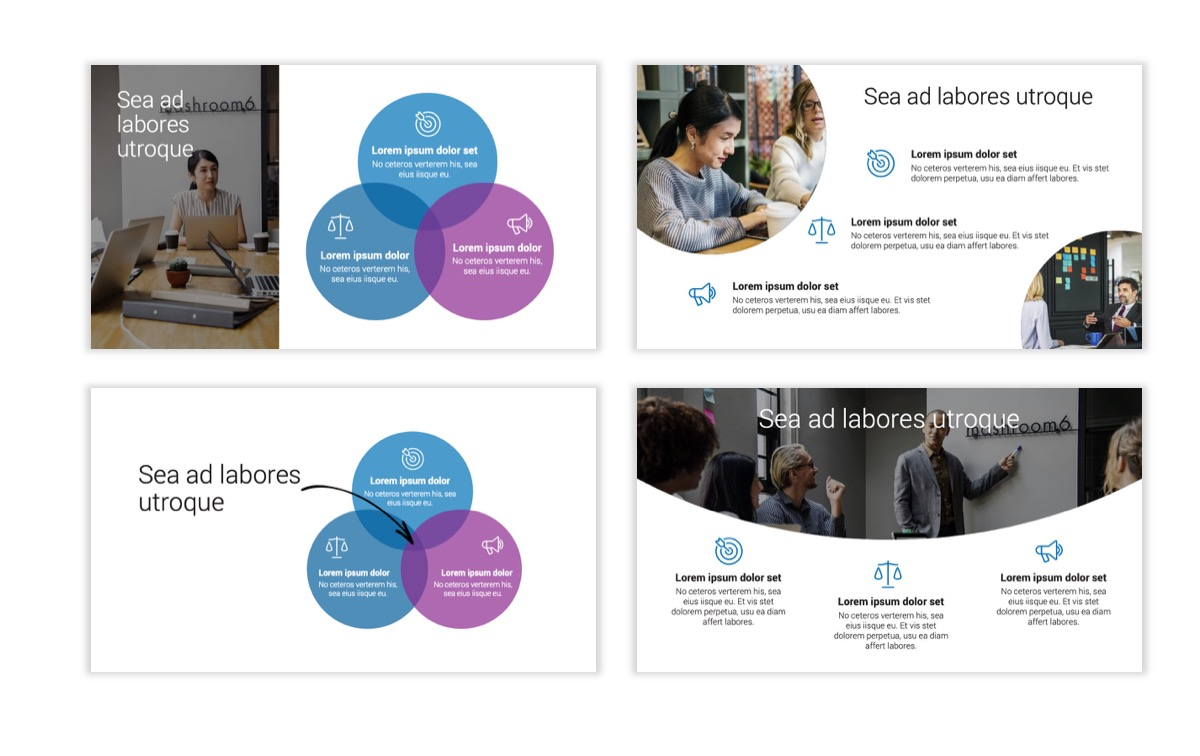 Circles PPT Template - Professional - Blue - Monochromatic - Business - Professional Slide7