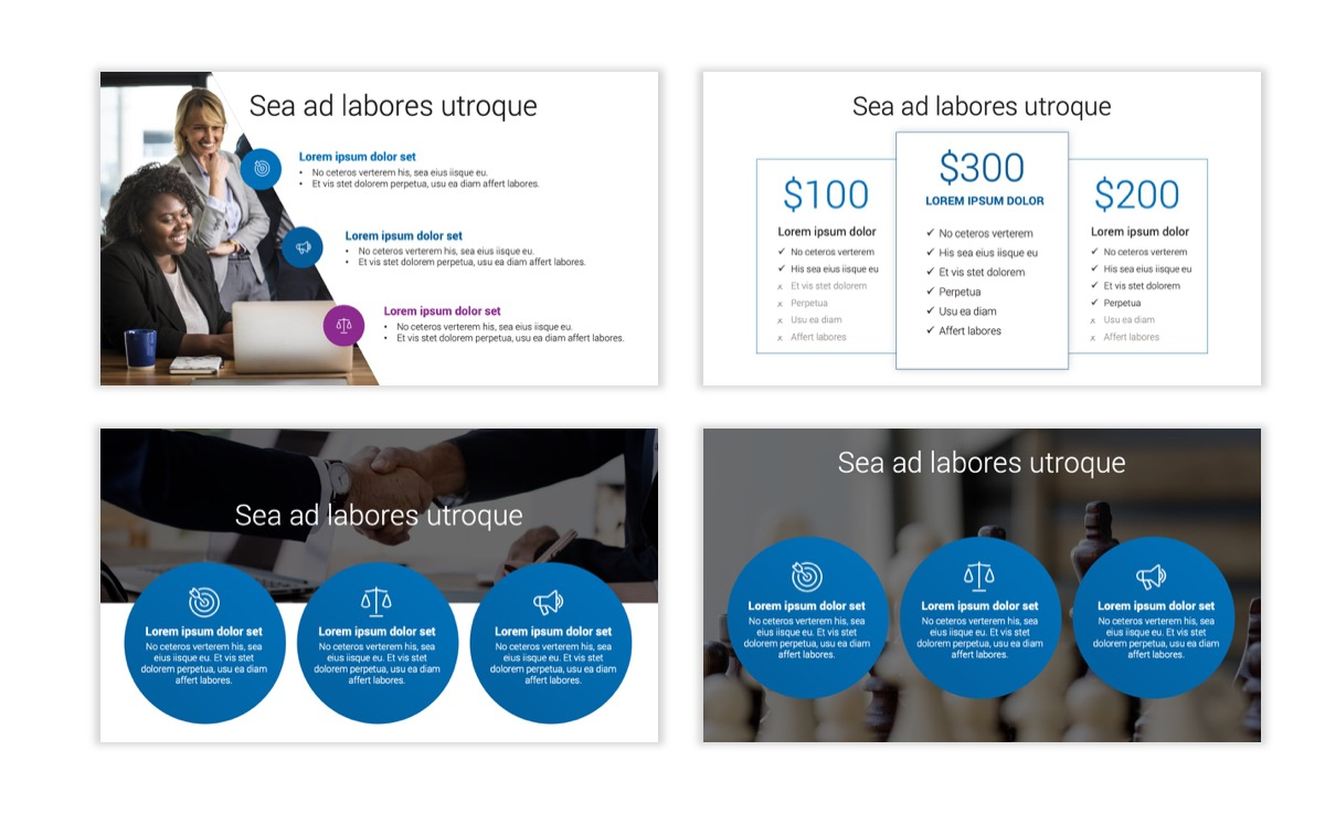 Circles PPT Template - Professional - Blue - Monochromatic - Business - Professional Slide8