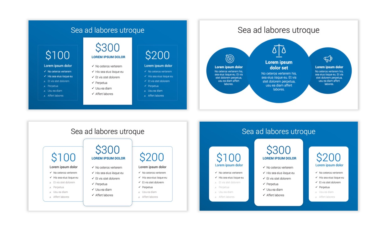 Circles PPT Template - Professional - Blue - Monochromatic - Business - Professional Slide9
