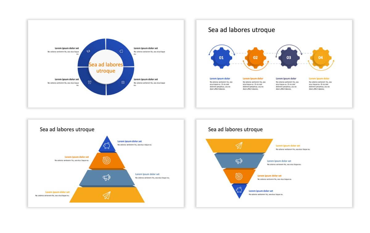 Circles PPT Template - Professional - Blue - Orange - Business - Professional Slide18