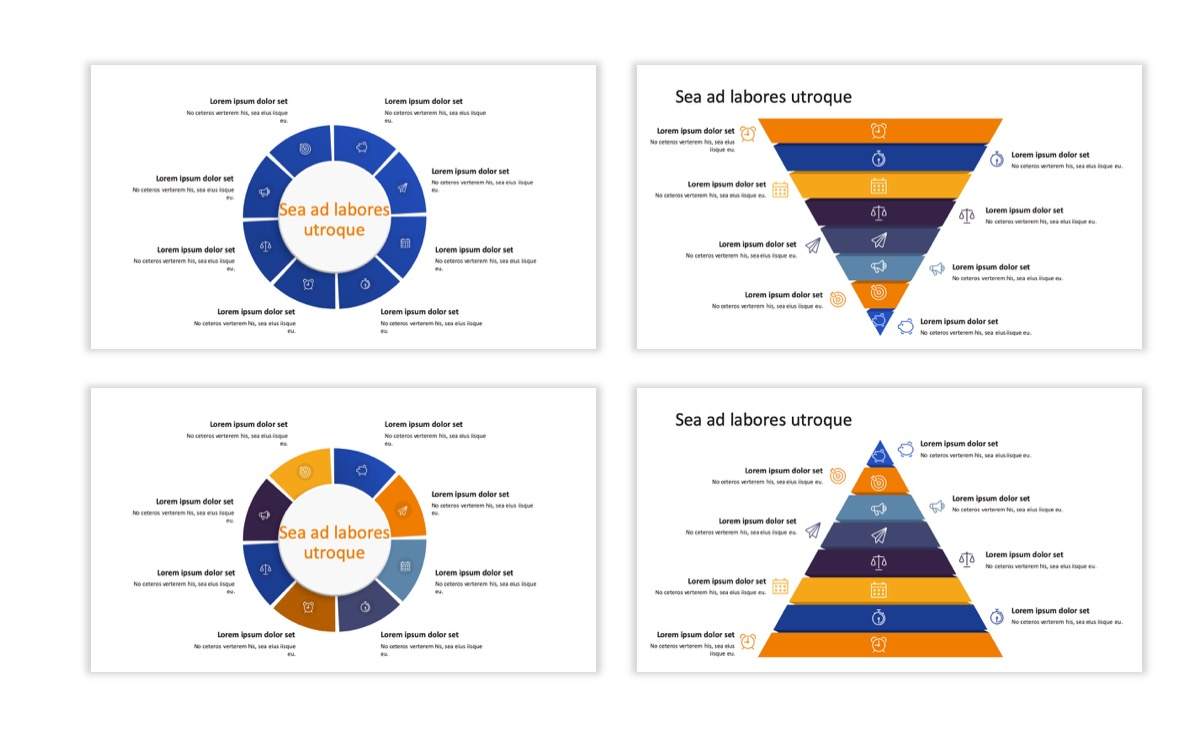 Circles PPT Template - Professional - Blue - Orange - Business - Professional Slide23
