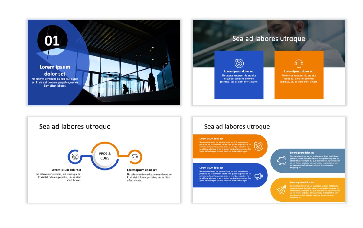 Circles PPT Template - Professional - Blue - Orange - Business - Professional Slide7