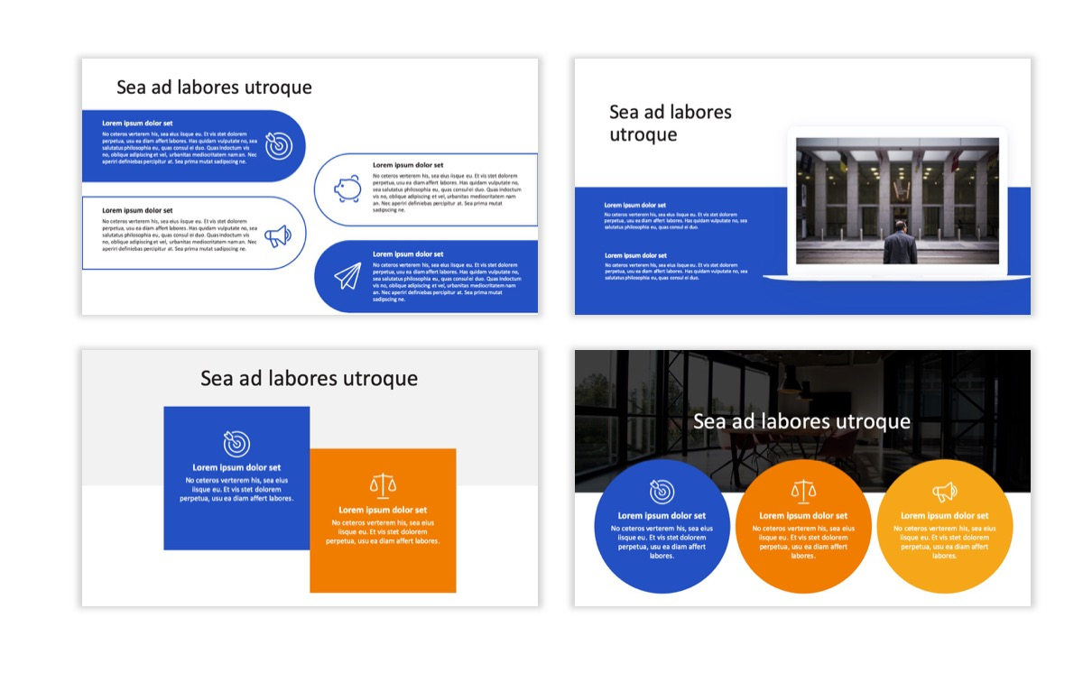 Circles PPT Template - Professional - Blue - Orange - Business - Professional Slide8