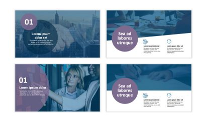 LONDON CIRCLES BLUE AND PURPLE PROFESSIONAL POWERPOINT TEMPLATE