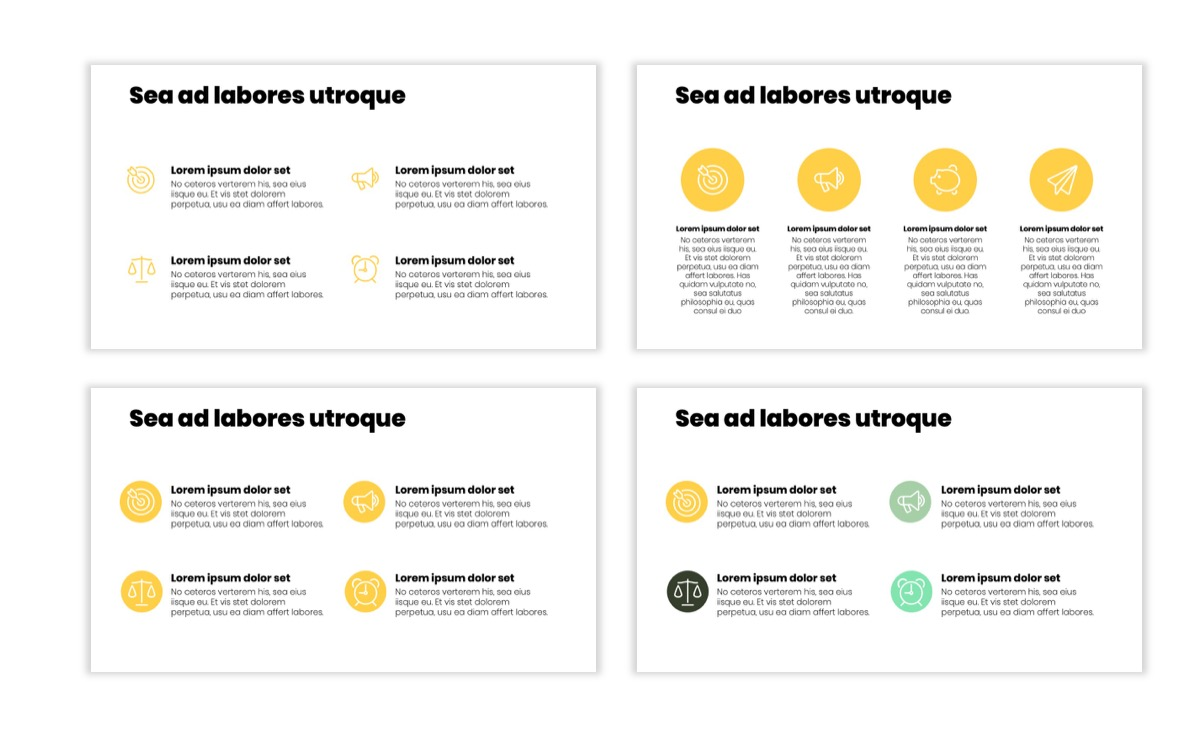 Circles PPT Template - Professional - Lemon - Yellow - Green - Business - Professional Slide10