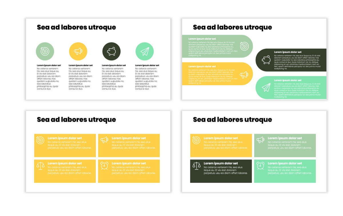 Circles PPT Template - Professional - Lemon - Yellow - Green - Business - Professional Slide11