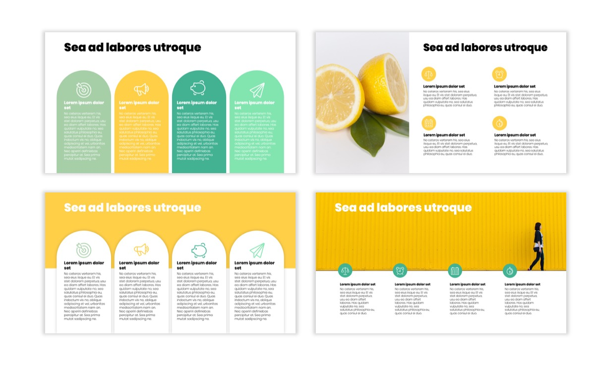 Circles PPT Template - Professional - Lemon - Yellow - Green - Business - Professional Slide13