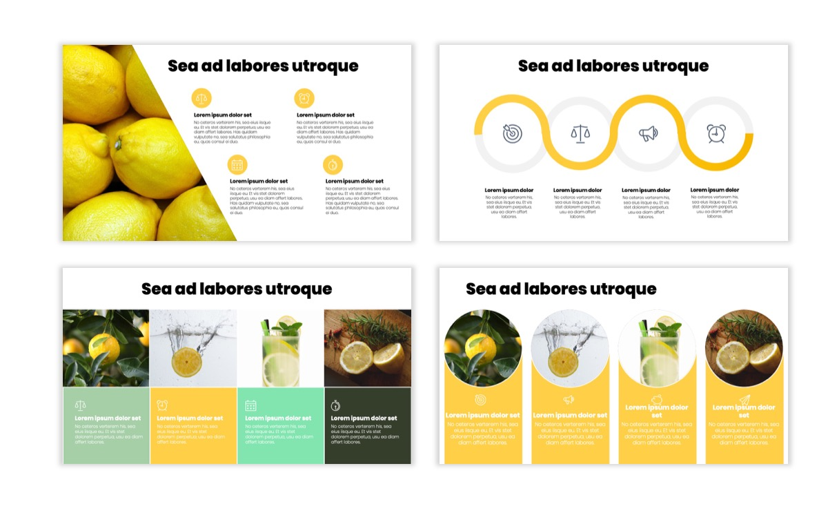 Circles PPT Template - Professional - Lemon - Yellow - Green - Business - Professional Slide14