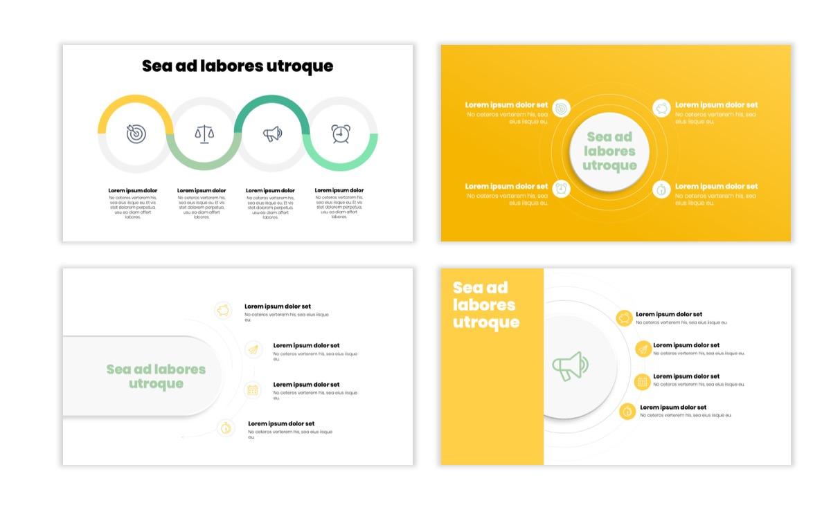 Circles PPT Template - Professional - Lemon - Yellow - Green - Business - Professional Slide15