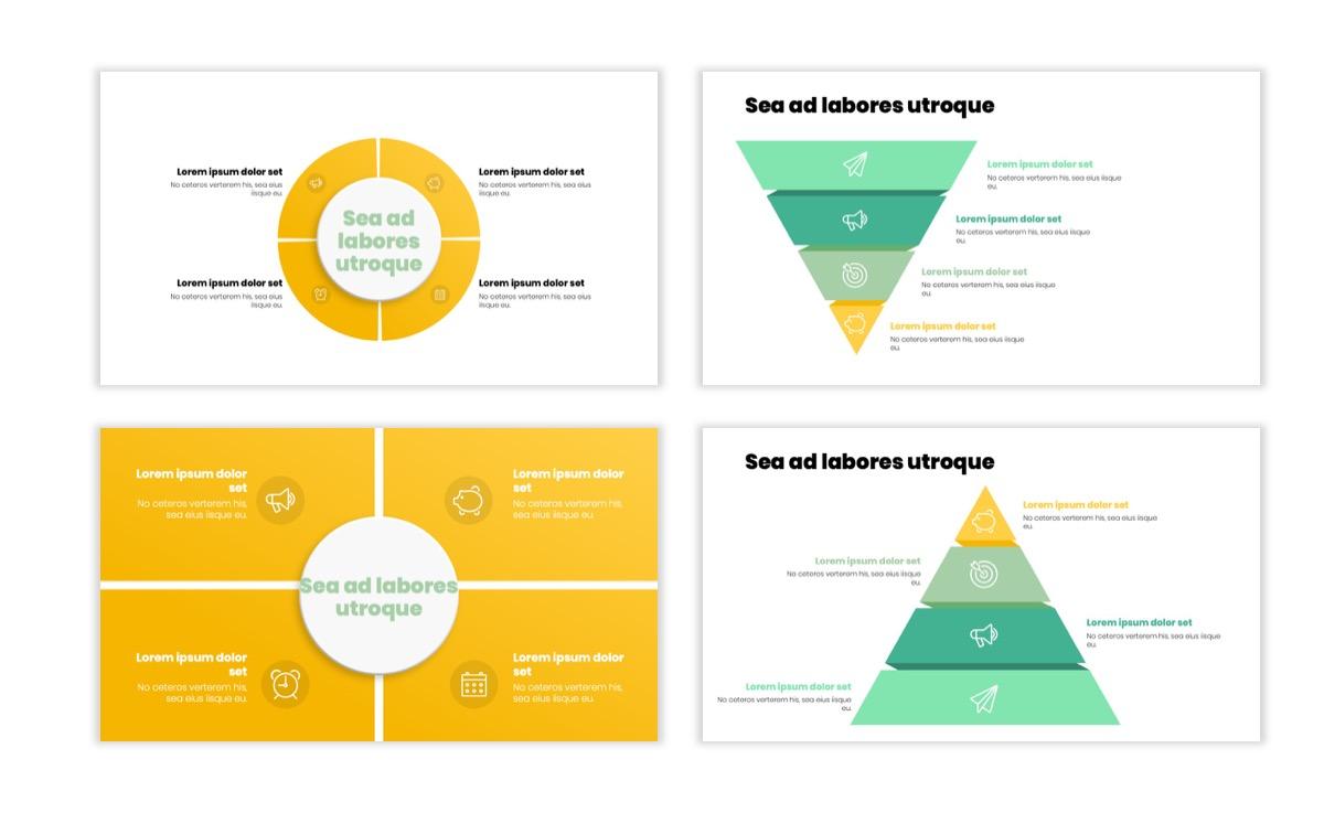Circles PPT Template - Professional - Lemon - Yellow - Green - Business - Professional Slide16
