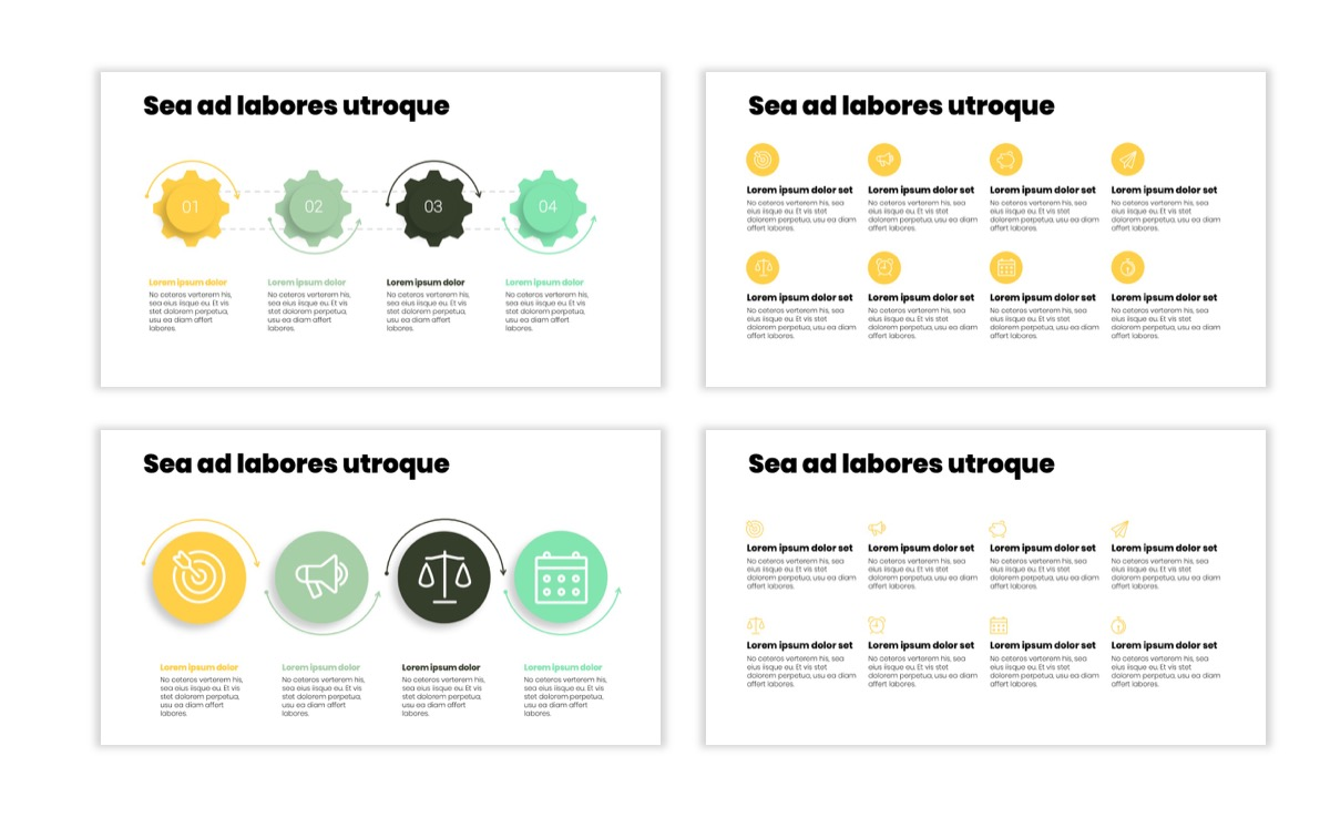 Circles PPT Template - Professional - Lemon - Yellow - Green - Business - Professional Slide17