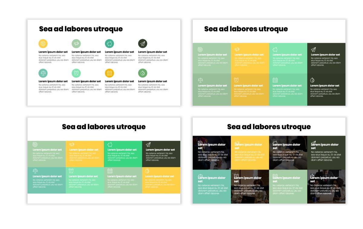 Circles PPT Template - Professional - Lemon - Yellow - Green - Business - Professional Slide18