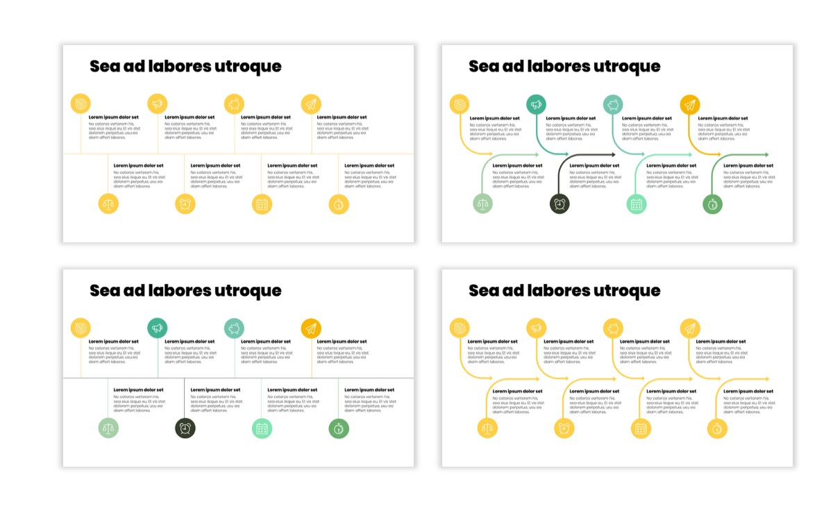 Circles PPT Template - Professional - Lemon - Yellow - Green - Business - Professional Slide19