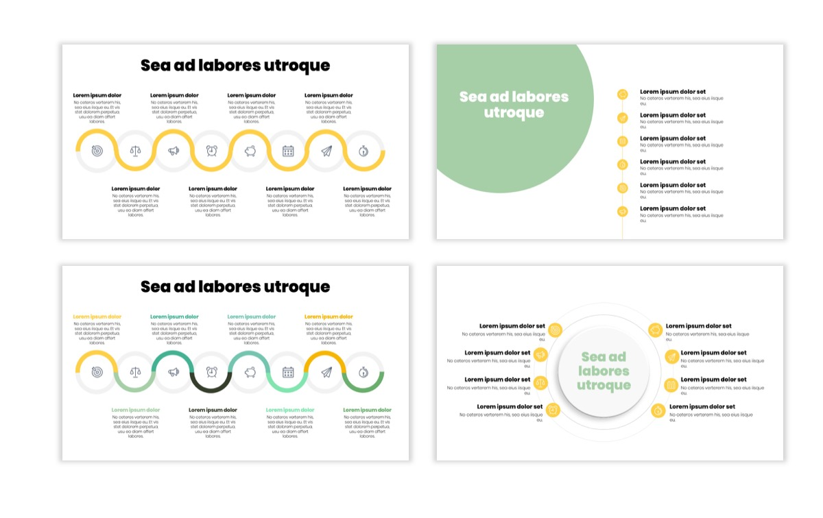 Circles PPT Template - Professional - Lemon - Yellow - Green - Business - Professional Slide20