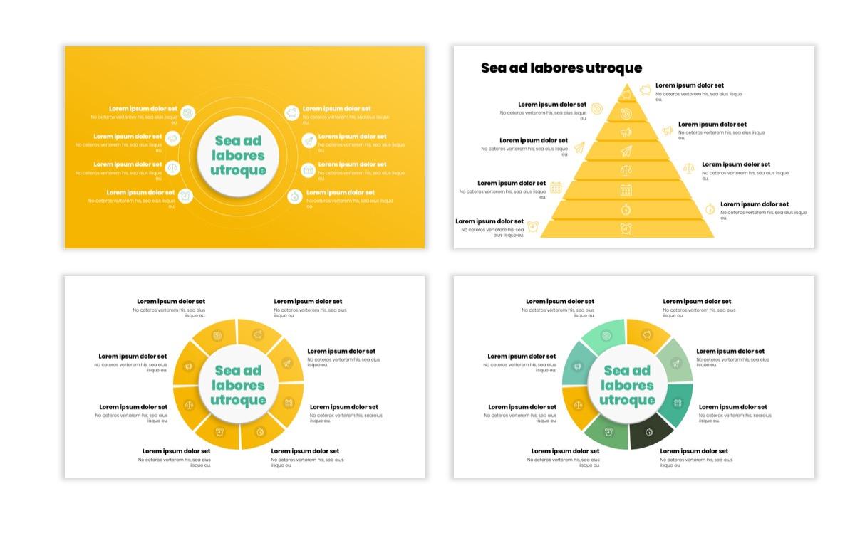 Circles PPT Template - Professional - Lemon - Yellow - Green - Business - Professional Slide21