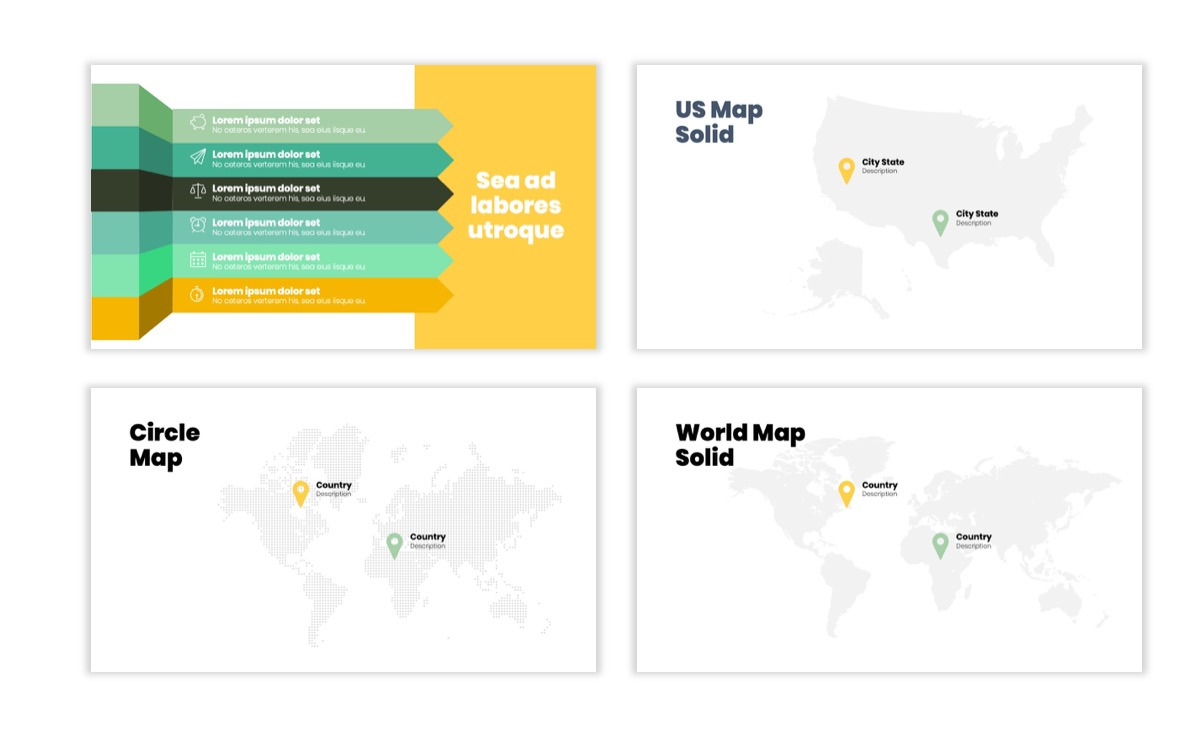 Circles PPT Template - Professional - Lemon - Yellow - Green - Business - Professional Slide23