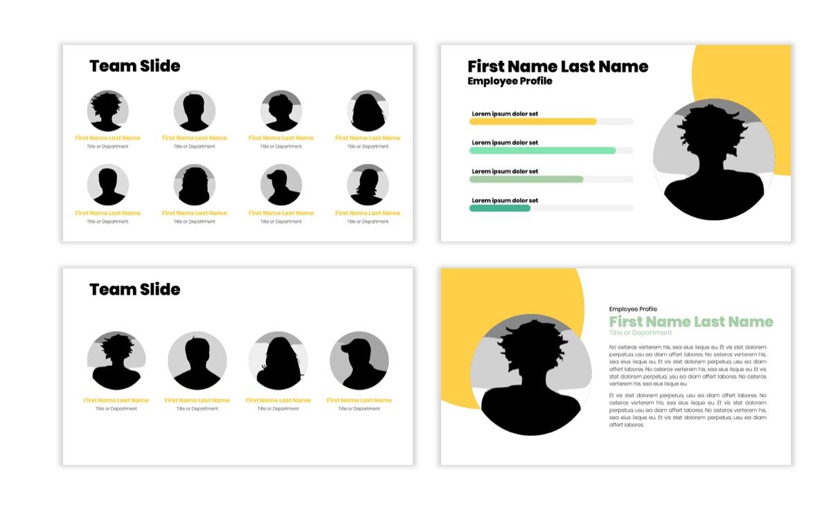 Circles PPT Template - Professional - Lemon - Yellow - Green - Business - Professional Slide24