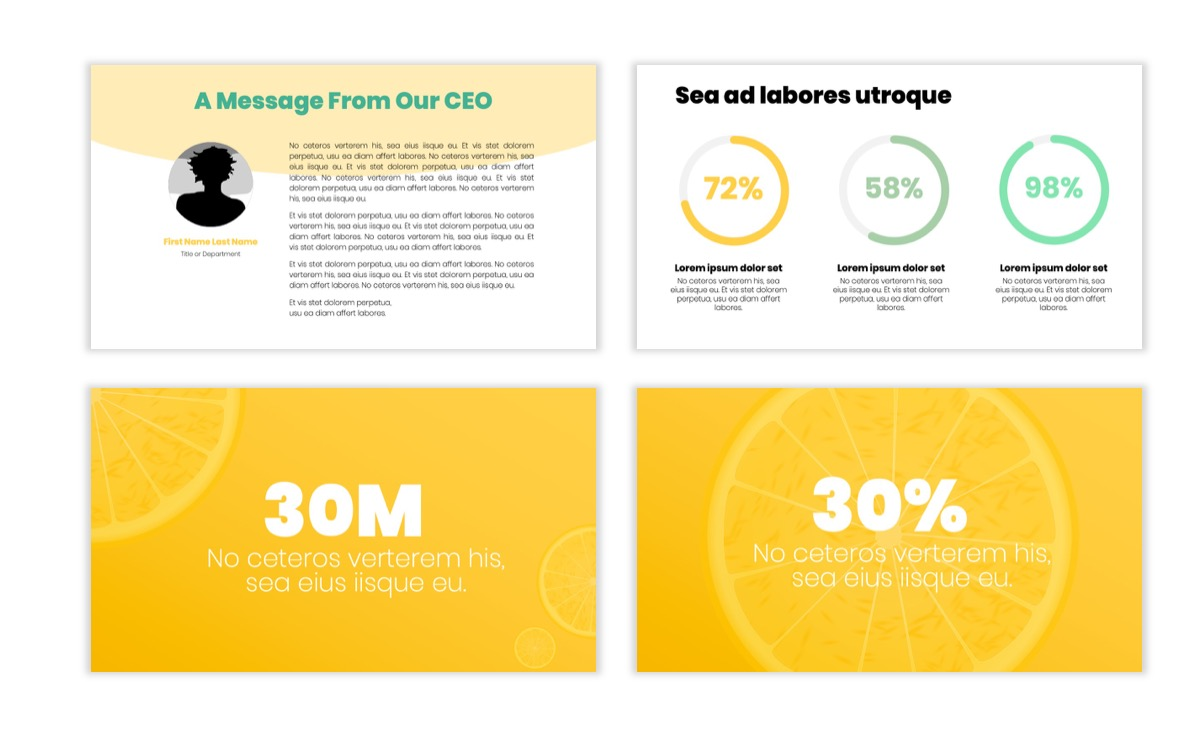 Circles PPT Template - Professional - Lemon - Yellow - Green - Business - Professional Slide25