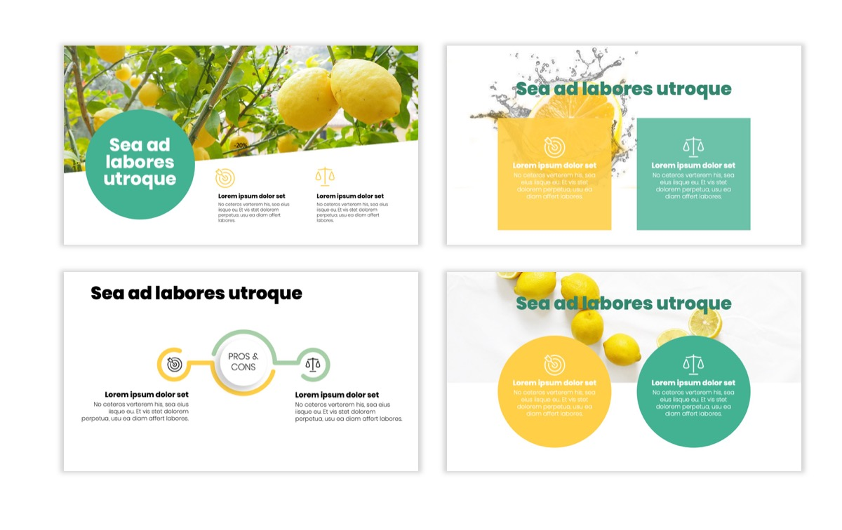 Circles PPT Template - Professional - Lemon - Yellow - Green - Business - Professional Slide3