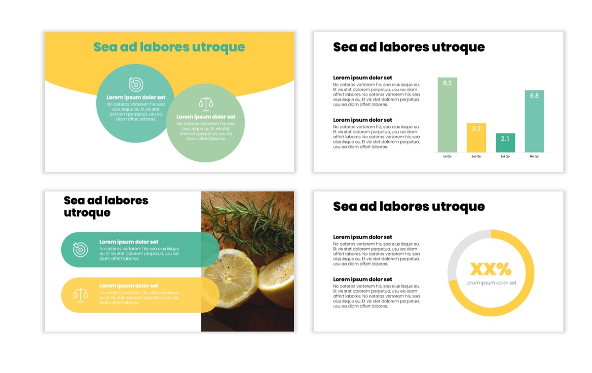 Circles PPT Template - Professional - Lemon - Yellow - Green - Business - Professional Slide4