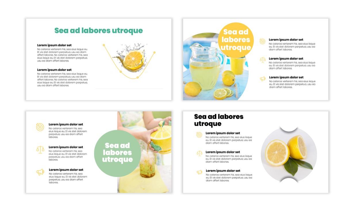 Circles PPT Template - Professional - Lemon - Yellow - Green - Business - Professional Slide5