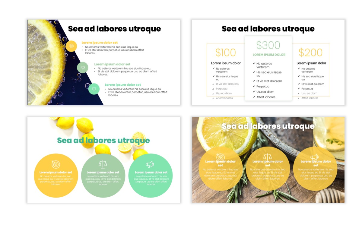 Circles PPT Template - Professional - Lemon - Yellow - Green - Business - Professional Slide7