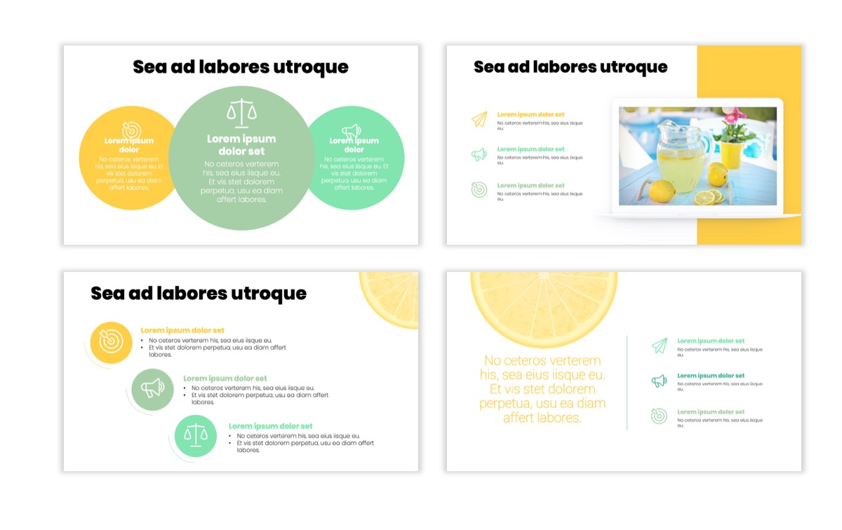 Circles PPT Template - Professional - Lemon - Yellow - Green - Business - Professional Slide8