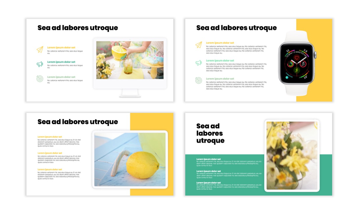 Circles PPT Template - Professional - Lemon - Yellow - Green - Business - Professional Slide9