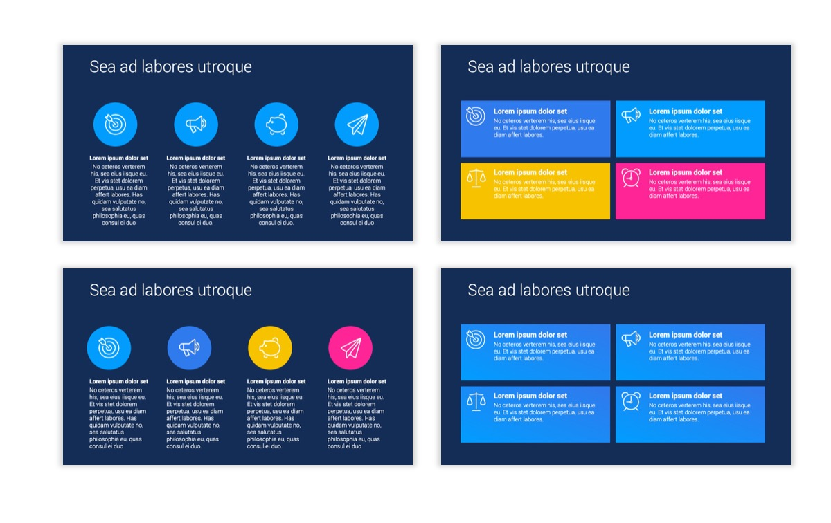 Circles PPT Template - Professional - Navy - Bright - Business - Professional Slide12