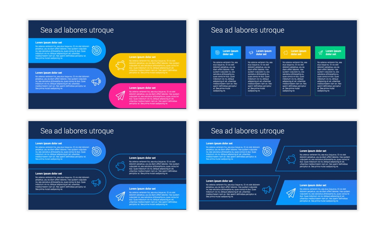 Circles PPT Template - Professional - Navy - Bright - Business - Professional Slide13